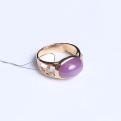 天意缘珠宝行 9x14星光红宝石戒指