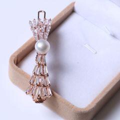 蘇情珠寶行 精美時尚珍珠發飾品發夾 重返20歲發夾 10-11mm