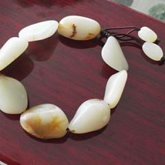 新疆和田玉籽料原石手鏈 男女款手串 性價比高 純天然真正籽玉