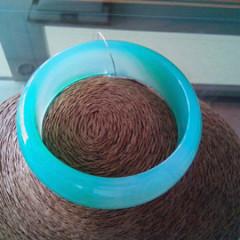 天然绿玉髓手镯蓝玉髓糖果色手镯正品天然冰种通透纯净