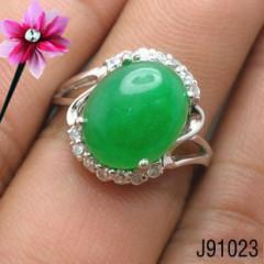 特价销售、925银镀白金马来玉戒指