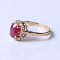 金鸿珠宝 18k黄金天然红宝石豪华套装 红宝石