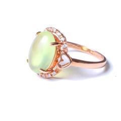 金鸿珠宝 18k玫瑰金葡萄石女士戒指  葡萄石