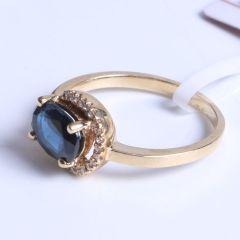益兴珠宝  18k金蓝宝石戒指  6*8  蓝宝石