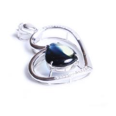 益兴珠宝  18k金蓝宝石吊坠 11mm*13.5mm  蓝宝石