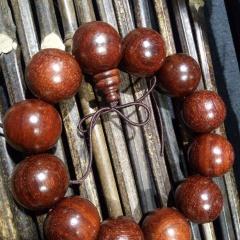 菩提居珠宝行  印度小叶紫檀,细牛毛纹,油性比高!尺寸22mm