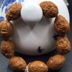 菩提居珠寶行 小財神。手串 尺寸:1.5X2.0厘米