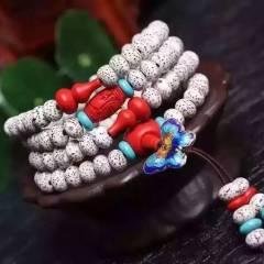 菩提居珠宝行  正宗海南 干磨   顺白  星月菩提高密正月A+  多圈手链 尺寸 6*8