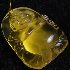 玉泉琥珀 佛琥珀挂件  40mm*50mm  黄金珠宝玉器