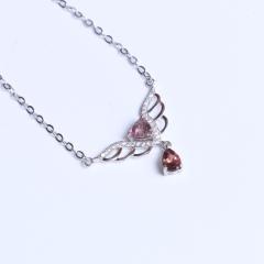 聖金珠宝 水滴碧玺 三角 5 925银 天使之恋锁骨链
