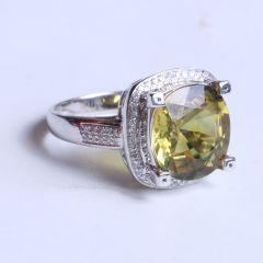鑫恒珠宝  18k金蓝宝石戒指  重量5.15g  蓝宝石