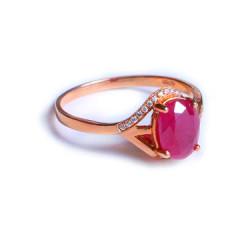 鑫恒珠宝  18k金红宝石戒指  重量2.50g  红宝石