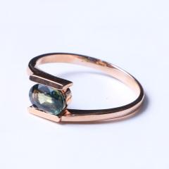 洪光蓝宝石 18k玫瑰金蓝宝石戒指 2.44g 时尚饰品