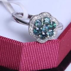 百顺珠宝加工厂 精美宝石戒指 蓝宝石戒指 925银