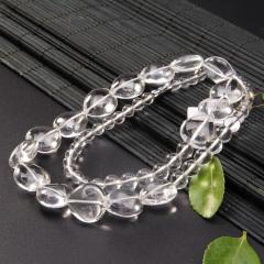 玉中皇 正品白水晶项链颈链 转运防辐射时尚饰品女款