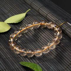 玉中皇珠宝  发晶   钛金手链