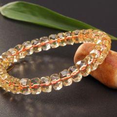 玉中皇珠宝   黄水晶手链