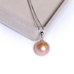 雁爱珠宝  淡水珍珠挂件14K金吊坠大小13-14mm 白色 珍珠