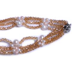 渭塘寶緣閣珠寶  珍珠水晶款珍珠項鏈毛衣鏈   珍珠