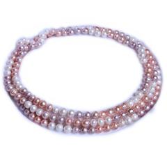 渭塘寶緣閣珠寶 珍珠毛衣鏈彩珍珠經典款 8-9mm  120cm   珍珠