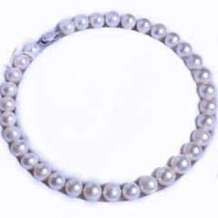 渭塘宝缘阁珠宝  淡水珍珠项链塔链形项链 13.5-12mm    珍珠