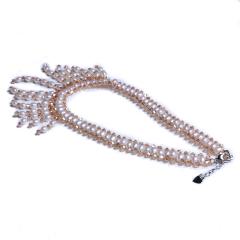 渭塘寶緣閣珠寶  水晶珍珠毛衣鏈 6-7mm  水晶4.5mm     珍珠