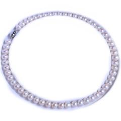 渭塘宝缘阁珠宝  8-9mm 淡水珍珠项链百搭款  45cm     珍珠
