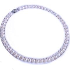渭塘宝缘阁珠宝  淡水珍珠项链  9-10mm  珍珠