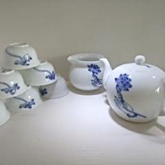 景德镇创意手绘青花茶具套装禅茶一味高温陶瓷功夫茶陶瓷礼盒新款日用百货