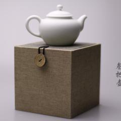 叁把壶  陶瓷 精品单壶(小西施)   雅光白  带包装