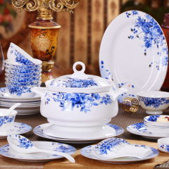 景德镇陶瓷高档骨质瓷餐具套装