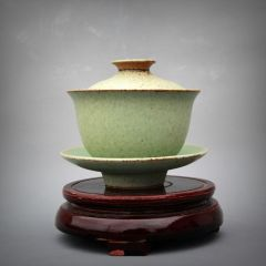 盖碗手工茶具古朴茶具颜色釉盖碗茶具