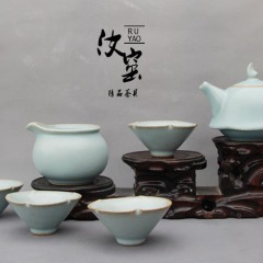 汝窑手工茶具精品汝窑套组茶具