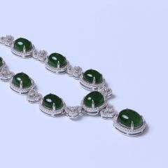遇籽福珠宝 精品和田碧玉项链 BY1977