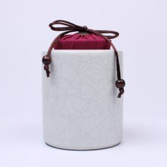 景德镇 珠山董窑 手绘茶具  茶叶罐