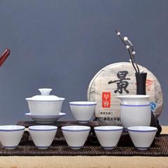 景德镇陶瓷天目油滴建盏品茗杯礼品手绘茶具套组,优惠巨献
