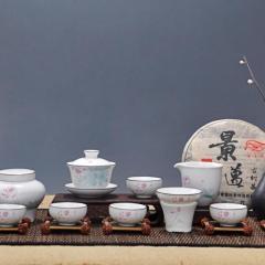 景德镇陶瓷套组茶道天目油滴建盏品茗杯礼品手绘茶具香道花道