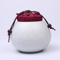 景德镇珠山董窑  茶叶罐  精品金丝铁线布盖茶叶罐