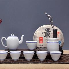 精品陶瓷套组窑变天目油滴建盏品茗杯礼品手绘茶具  优惠巨献
