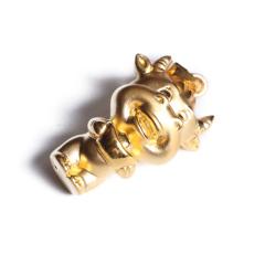 宝麒麟银楼 黄金 3D硬金精品吊坠   黄金珠宝吊坠 2.23g