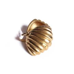 宝麒麟银楼 黄金 3D硬金贝壳吊坠   黄金珠宝吊坠 3.45g