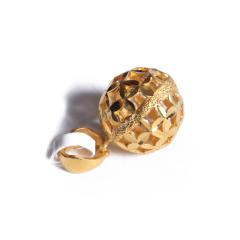 宝麒麟银楼 黄金千足金球球吊坠  黄金珠宝吊坠 2.78g