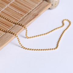 宝麒麟银楼 黄金佛珠项链  黄金珠宝项链 5.54g