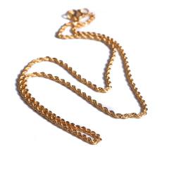 宝麒麟银楼 黄金 麻绳链女士  黄金珠宝项链 12.69g