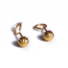 宝麒麟银楼 黄金耳钉灯笼 黄金珠宝耳钉 2.33g