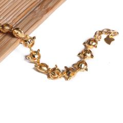 寶麒麟銀樓 黃金女士手鏈 狐貍手鏈    黃金珠寶手鏈 11.38g