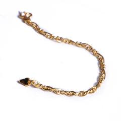 寶麒麟銀樓 黃金女士手鏈 三蛇骨      黃金珠寶手鏈 9.6g