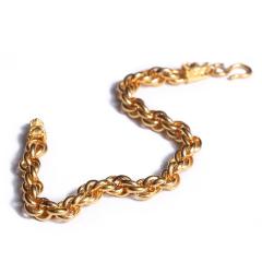 寶麒麟銀樓 黃金女士手鏈 龍骨手鏈   黃金珠寶手鏈 23.43g