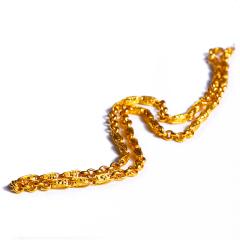宝麒麟银楼 黄金男士新款绳链  黄金珠宝项链 38.8g