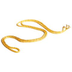 宝麒麟银楼 黄金项链毛毛虫    黄金珠宝项链 8.33g